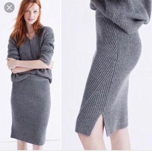Madewell Ribbed Merino Woolside Sweater Skirt